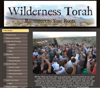 Web page for Wilderness Torah's Passover in the Desert festival.